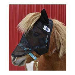 Crusader Quiet-Ride Long-Nose Fly Mask with Ears Black Mini/Donkey - Item # 34372
