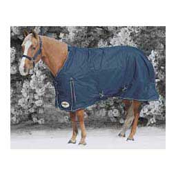 Medium Weight Turnout Horse Blanket Navy/Tan - Item # 34642