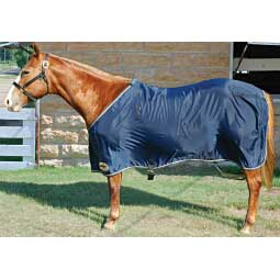 Navy/Tan Nylon Horse Sheet