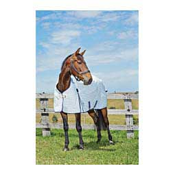 Kool Coat Horse Sheet White/Navy - Item # 35262