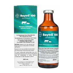 Baytril 100 Antimicrobial for Cattle and Swine 250 ml - Item # 352RX