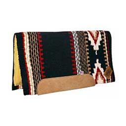 Black/Red Impact Gel Navajo Cowtown Saddle Pad