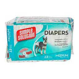 Simple Solutions Disposable Dog Diapers M (12 ct) - Item # 35816
