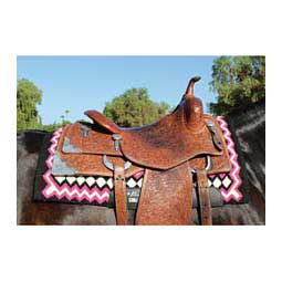 SMx H.D. Air Ride Western Shilloh Horse Saddle Pad Black/Pink - Item # 35970