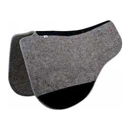 Wool Blend Felt Round Contour Horse Saddle Pad Gray - Item # 36452