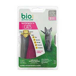 Bio Spot Active Care Flea and Tick Spot On for Cats 3 pk (under 5 lbs) - Item # 36567