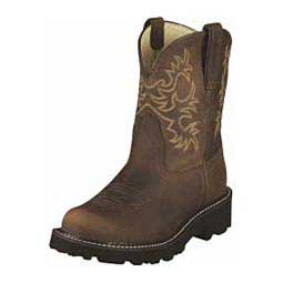 Distressed Brown Womens Fatbaby Cowgirl Boots