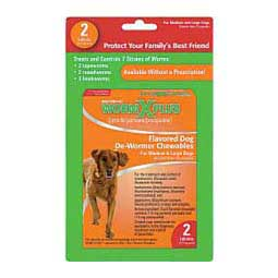 Medium & Large Dogs Over 25 lbs (2 ct) WormX Plus Flavored Dog De-Wormer Chewables