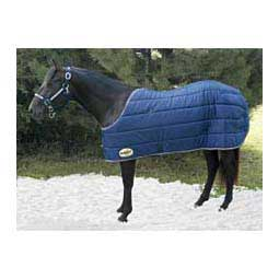 Medium Weight Stable Horse Blanket Navy/Tan - Item # 37929