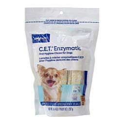 CET Enzymatic Oral Hygiene Dental Chews for Dogs Extra Small (dogs under 11 lbs) 30 ct - Item # 38758