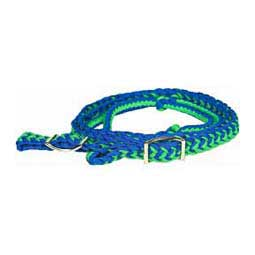 Braided Barrel Racing Reins Blue/Lime - Item # 39056