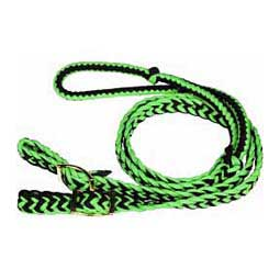 Braided Barrel Racing Rein Lime/Black - Item # 39056