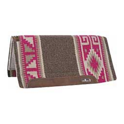 ESP: Extra Sensory Protection Wool Top Saddle Pad Slate/Fuchsia - Item # 39233
