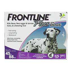 Frontline Plus for Dogs 3 pk (45-88 lbs) - Item # 39407