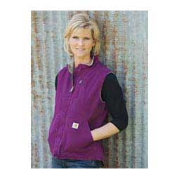 Bright Purple Ladies Sandstone Mock Neck Sherpa Lined Vest