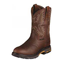 Dark Copper Mens Workhog Pull On Cowboy Boots