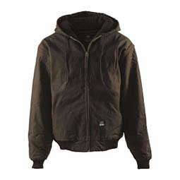 Dark Brown Berne Original Hooded Jacket