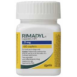 Rimadyl Caplets for Dogs 25 mg/60 ct - Item # 401RX