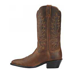 "Heritage Western R Toe 12"" Cowgirl Boots Distressed Brown - Item # 40292"