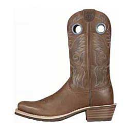 Distressed Brown Mens Heritage Roughstock Square Toe 12