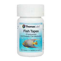 10 ct/34 mg Fish Tapes Praziquantel Wormer