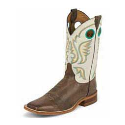 Mens Bent Rail Collection J124 Toe Cowboy Boots Ivory - Item # 40381