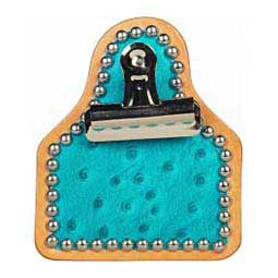 Turquoise Ostrich Exotic Exhibitor Clip