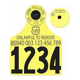840 USDA All-in-One FDX EID Numbered Ear Tags Yellow - Item # 41040