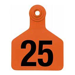 Z2 2-Piece Numbered Large Cattle ID Ear Tags Orange - Item # 41058