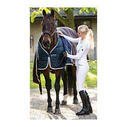 Medium Weight Vari-Layer Horse Blanket Liner Navy/Silver - Item # 41086