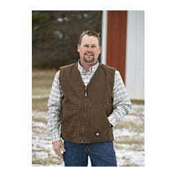 Washed V-Neck Mens Vest Bark - Item # 41088