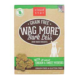 Wag More Bark Less Grain Free Oven Baked Biscuit Dog Treats Chicken/Sweet Potato - Item # 41261