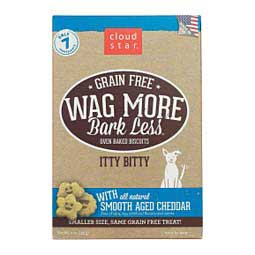 Wag More Bark Less Grain Free Oven Baked Biscuit Dog Treats Smooth Aged Cheddar - Item # 41262