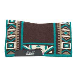 SMX H.D. Sundance Felt Saddle Pad Chocolate/Turquoise - Item # 41731