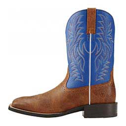"Sport Western Wide Square Toe 11"" Cowboy Boots Royal/Brown - Item # 41741"