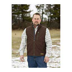 Ranch Tough Canvas Mens Vest Dark Chocolate - Item # 41882
