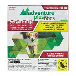 Adventure Plus for Dogs 4 pk (21-55 lbs) - Item # 42144