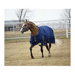 Medium Weight Turnout Horse Blanket Navy/Tan - Item # 42322