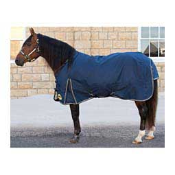 Light Weight Turnout Horse Blanket Navy/Tan - Item # 42323