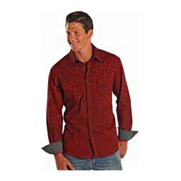 Denim Red Mens Shirt Red/Black - Item # 42470