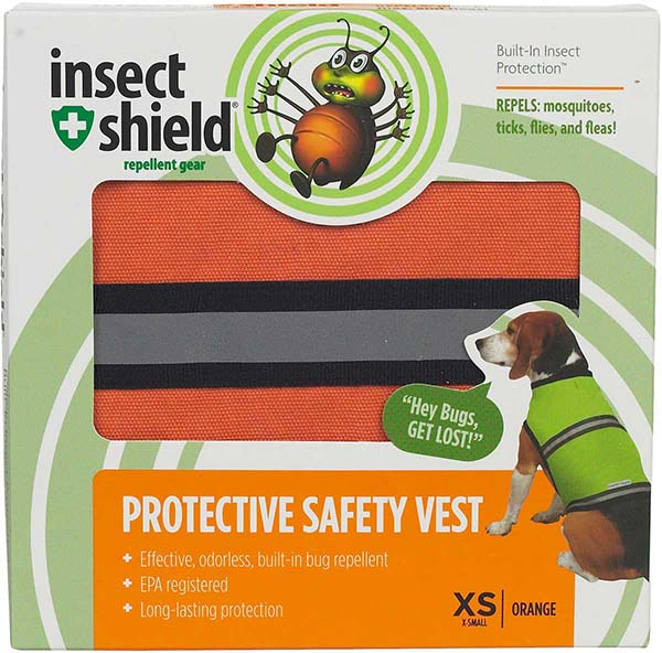 Insect Shield Protective Dog Safety Vest Petedge - Pet