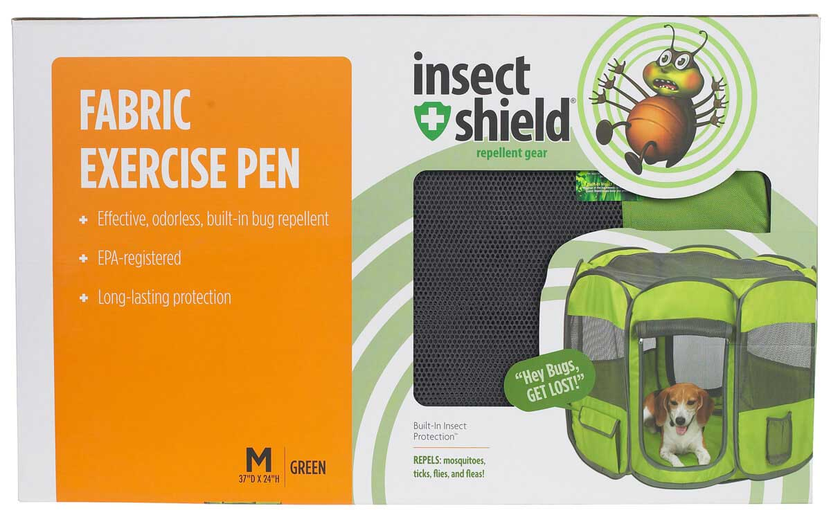 Insect Shield Fabric Exercise Dog Pen Petedge - Kennel