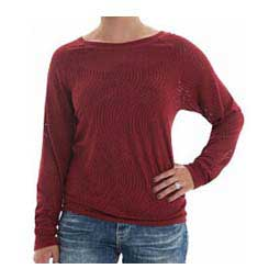 Swirl Lace Long-Sleeve Womens Tee Red - Item # 42956