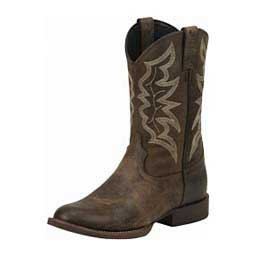 "Stampede Collection J96 Toe 11"" Cowboy Boots Distressed Brown - Item # 43099"