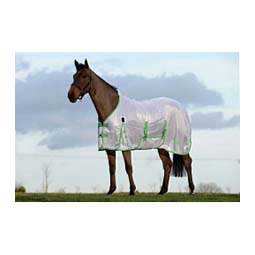 Solid Saxon Horse Fly Sheet w/Gusset Standard Neck White/Mint/Blue - Item # 43134