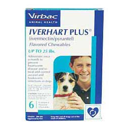 6 ct (up to 25 lbs) Iverhart Plus Flavored Chewables for Dogs