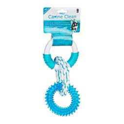 "Canine Clean 11"" Dental Dog Toy w/Rings Peppermint - Item # 43333"