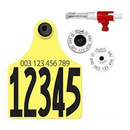 Tissue Sampling Units w/840 USDA HDX EID Ear Tags+ Maxi #d Matched Set Yellow - Item # 43360