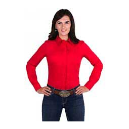 Perfect Fit Womens Western Show Shirt Red - Item # 43479