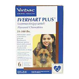 6 ct (51-100 lbs) Iverhart Plus Flavored Chewables for Dogs
